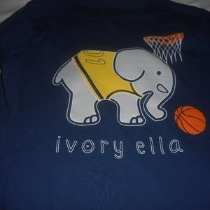 Ivory Ella Blue Long Sleeve Basketball Shirt